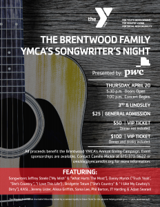 YMCA Songwriter's Night